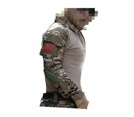 Camiseta combat tactical con codera multicam