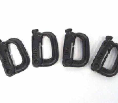 Soporte molle modelo D negro 4 unidades