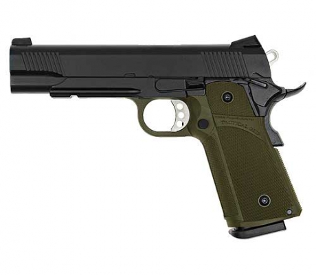KJ WORKS Tactical K1911 (KP-05) Hi-Capa Gas BlowBack OD GREEN