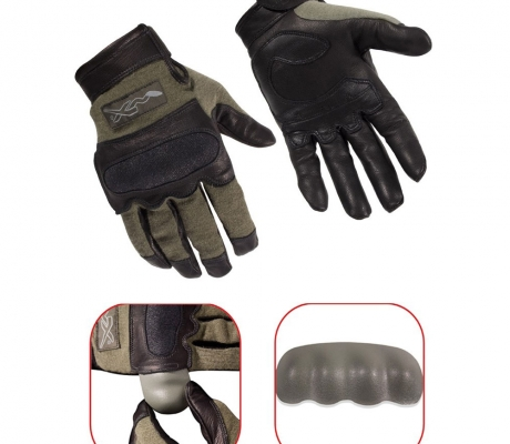 Wiley X HYBRID Removable Knuckle Glove Foliage Green