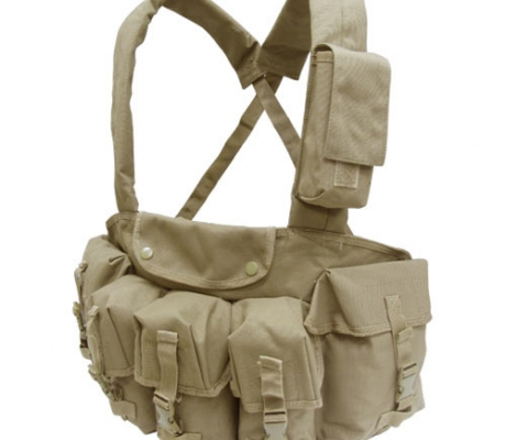 CR-003 7 Pocket Chest Rig Coyote Tan