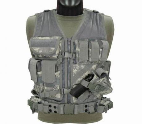 CV-007 Cross Draw Vest Coyote ACU M/L