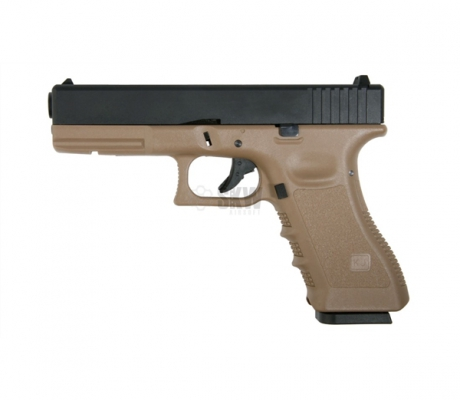 PISTOLA GLOCK17 GAS Y CO2 KJW KP-17 TAN