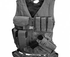 CV-002 Cross Draw Vest Black M/L