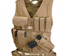 CV-003 Cross Draw Vest Coyote Tan M/L
